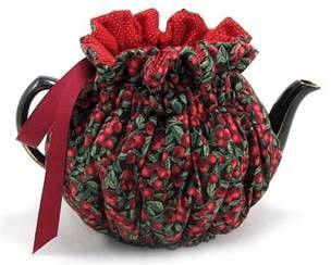 Cranberry Medium 4-Cup Wrap Around Tea Cozy
