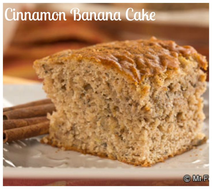 Cinnamon Banana Cake: This so simple banana recipe is not only delicious, but it's also tailored for a healthy lifestyle! Don't miss this healthy banana cake recipe!