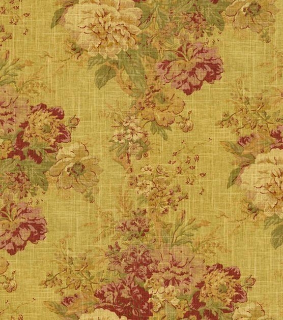 Home Decor Fabric Waverly Romantic Overtures Ballad Bouquet Tea Stain