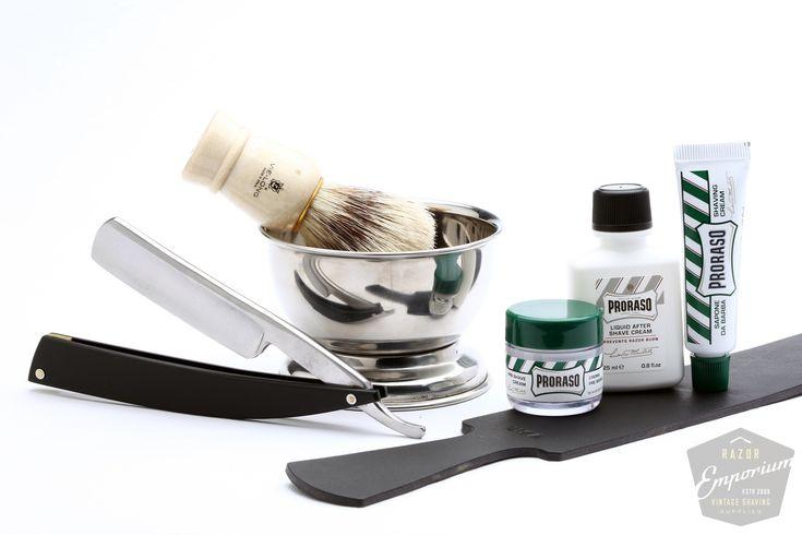 Razor Emporium - Try Straight Razor Shaving Kit, $69.00 (http://www.razoremporium.com/try-straight-razor-shaving-kit/)