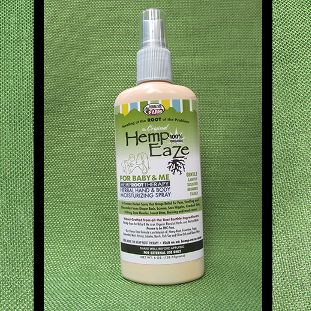 A Rich and Creamy Formula in a Spray for Easy Application.  Hemp-EaZe™ Baby & Me First Aid Spray contains the organic Hemp-EaZe™ blend of herbs with gentle mints and Feverfew for skin comfort. It soothes and moisturizes.  Great for those 'untouchable' discomforts. A spritz of our Baby & Me First Aid Spray will provide instant relief from sunburn pain and discomfort, irritated skin, Eczema, burns, insect bites, hydration, abrasions, even Poison Oak itching, and cuts.