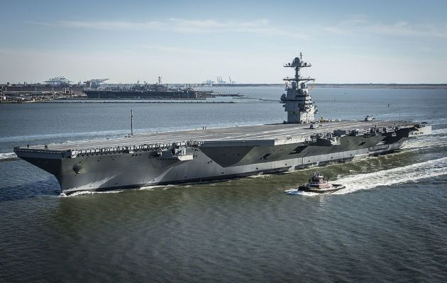 The first in class, USS Gerald Ford CVN-78 will soon enter fleet service according to Acting Navy Secretary Sean Stackley. In a speech at the annual U.S. Naval Institute meeting in Washington, D.C. last week, Stackley said CVN-78 will perform sea trials before Memorial Day and soon after enter the fleet.