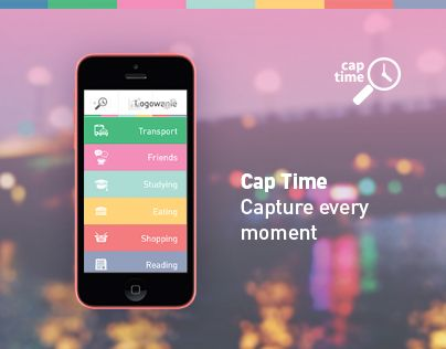 """Check out new work on my @Behance portfolio: """"Cap Time - Time tracking application"""" http://on.be.net/1DU93pE"""
