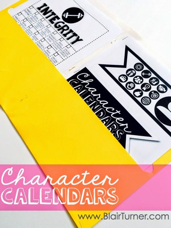 Character Calendars: an easy-to-implement character education program to use throughout the year. There are a couple of free printables in this blog post, as well. (from BlairTurner.com)
