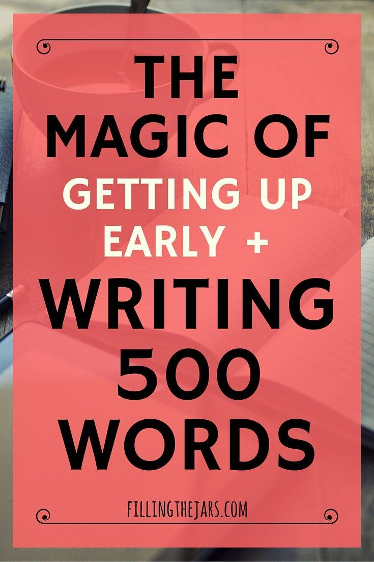 The Magic of Getting Up Early and Writing 500 Words | Sometimes you read a blog post or a Tweet that makes you think. Other times you read a post and decide to act. Click through to read about rediscovering the magic of writing. | http://www.fillingthejars.com
