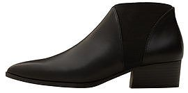Womens black elastic panels ankle boot from Mango - £35.99 at ClothingByColour.com
