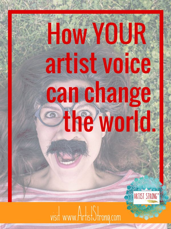 Too many times I've heard artists say that unless their art changes the world, it's not worth making. Or that they don't deserve to create. What if it isn't the artwork that changes the world? What if it's the process of art that unleashes the power already in you?