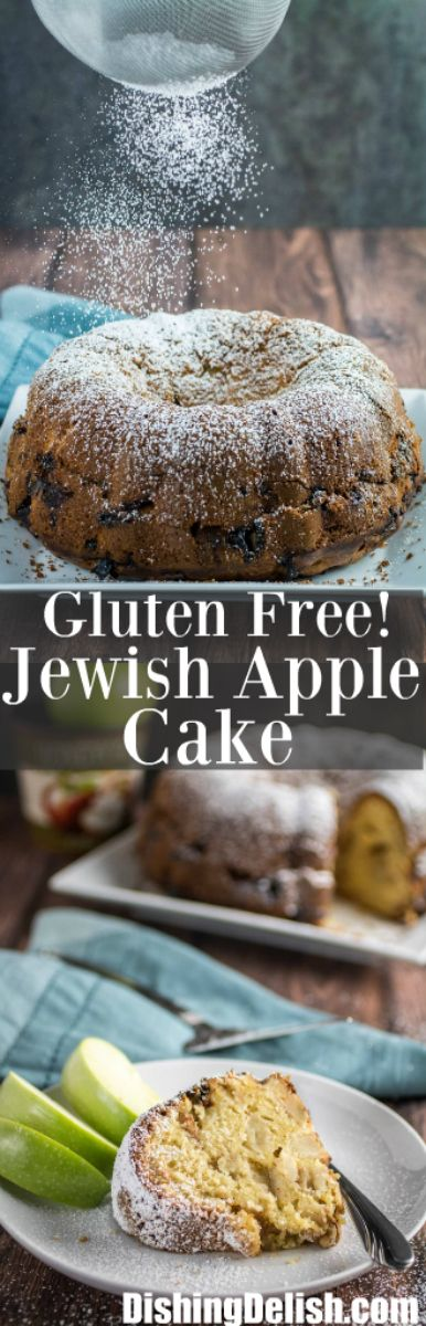Gluten Free Jewish Apple Cake Sweet, moist and packed full of tender cinnamon-sugar apples, Jewish Apple Cake is a recipe you'll want to make over and over. More dense than your average cake, this ... http://livedan330.com/2015/10/18/gluten-free-jewish-apple-cake/