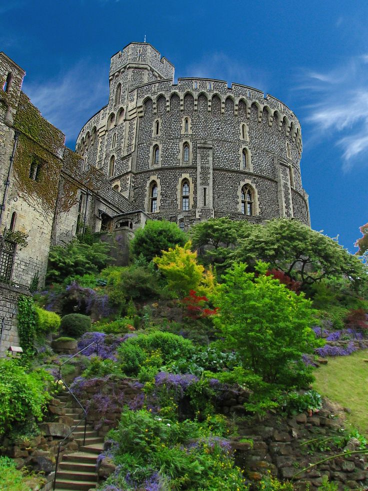 Windsor Castle is a medieval castle and royal residence at Windsor in the English county of Berkshire