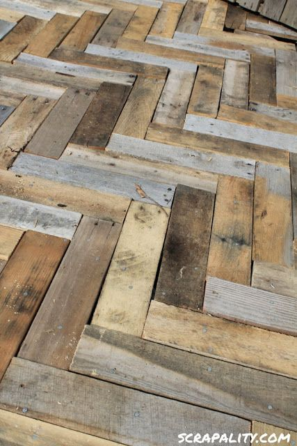 Scrapality - deck made from pallets... love it!