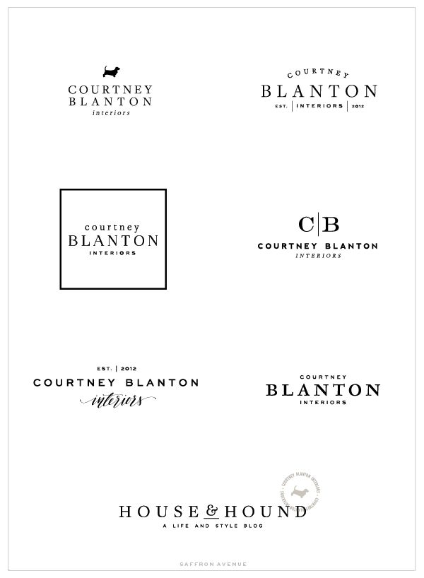 Brand and Web Design :: Courtney Blanton Interiors - Saffron : Saffron Avenue