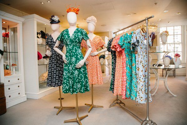 """FORTNUM & MASON,London, UK, """"Girls...Happiness is...a beautiful dress that doesn't need ironing"""", pinned by Ton van der Veer"""