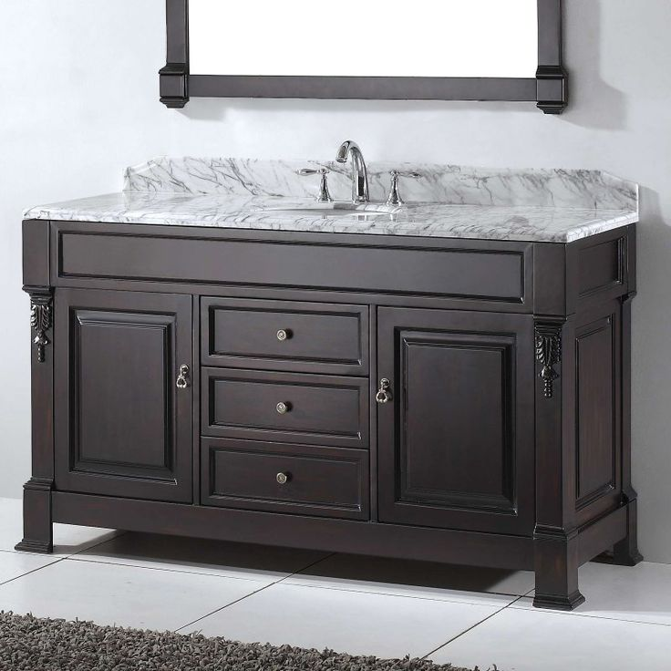 Double Bathroom Vanity Set   Round Sink   GD