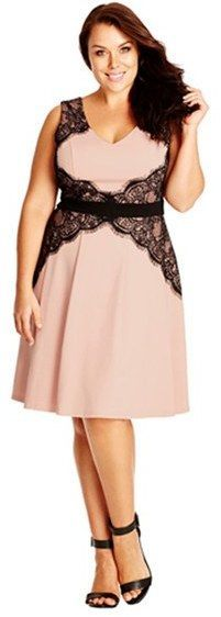 So pretty!  Love!  Plus Size  'Lace Corset'  Fit & Flare Dress