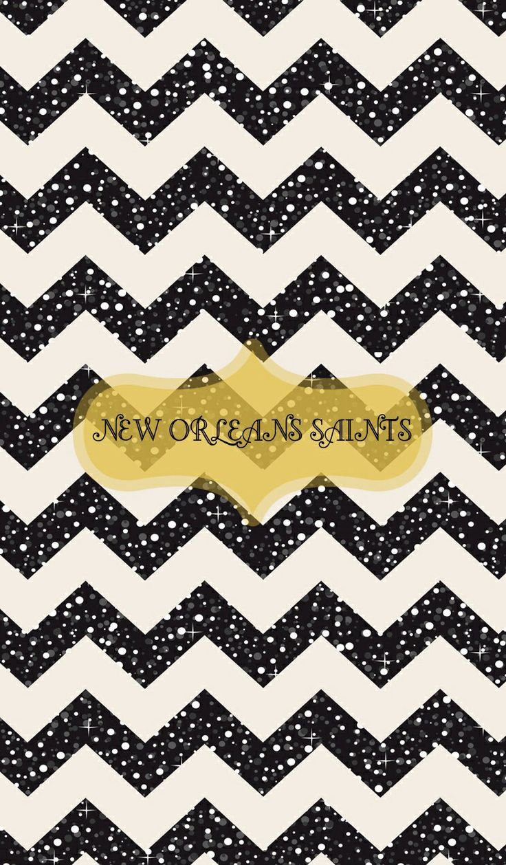 New Orleans Saints iphone wallpaper black glitter chevron ...