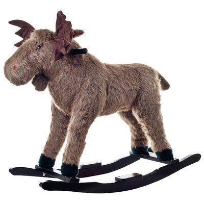 Happy Trails Plush Max Rocking Moose - Rocking horses are so passe