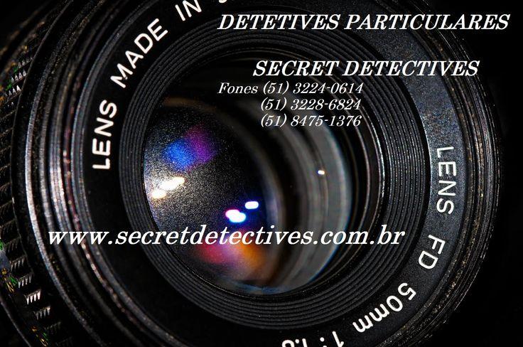 O que você procura?investigação com seriedade,sigilo absoluto,profissionalismo e o resultado para suas dúvidas? Então achou a Secret Detectives Ltda a mais completa empresa de Investigação do Sul do País.Estamos localizados em um dos melhores pontos do centro de Porto Alegre,e de fácil acesso,Praça Osvaldo Cruz,15-Centro-Porto Alegre,Edifício Coliseu. Fone(0xx51)3224-0614/(0xx51)8475-1376