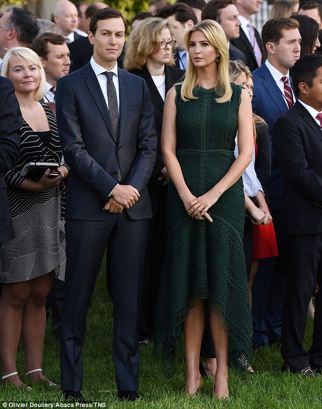 Paying respects: Ivanka Trump and her husband Jared Kushner joined the President and First Lady as they hosted a minute of silence at the White House in honor of the victims of 9/11