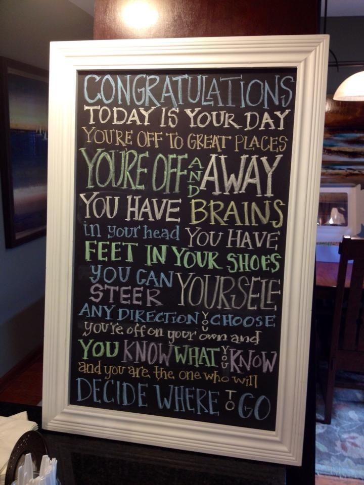 http://dailyquoted.com/ #graduation #quotes so writing this on her bathroom mirror on grad day!