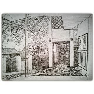 View from Front Porch . . #outlook #view #porch #sketch #sketching #draw #drawing #handdrawing #freehand #pointless #pointillism #dotted #drawingpen #monochrome #art #artwork #myfreehandArt #AAI