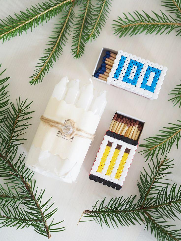 Hama beads on matchboxes / hamahelmiaskartelu: tee hamahelmistä kansi tulitikkuaskille