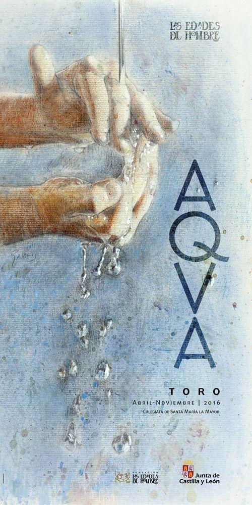 """Eduardo Palacios (2016) AQVA. """"El simbolismo que representa es sencillo: unas manos que reciben el agua de lo alto y que a su vez lo transmiten, que para muchos puede evocar el gesto del bautismo, incluso del bautismo de Jesús por Juan en el Jordán. Pero es sobre todo una imagen llena vida"""""""