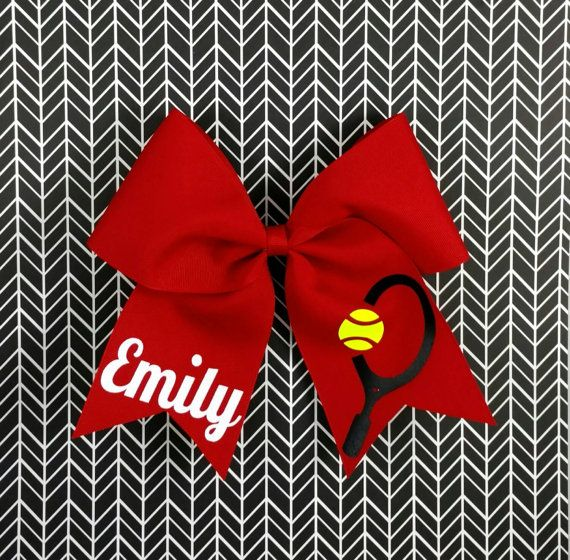Tennis bow  https://www.etsy.com/listing/254429218/custom-tennis-hair-bow-tennis-accessory