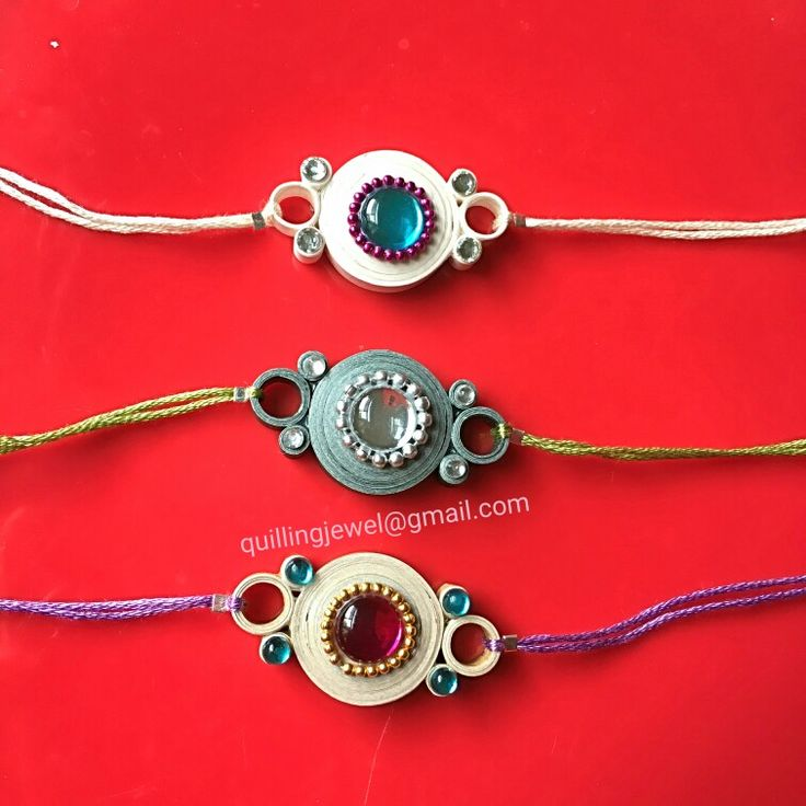 Simple quilling rakhi made for my dear brothers                              …