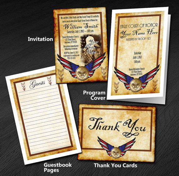 Eagle, Summit, Quartermaster and Gold Congratulation Letters
