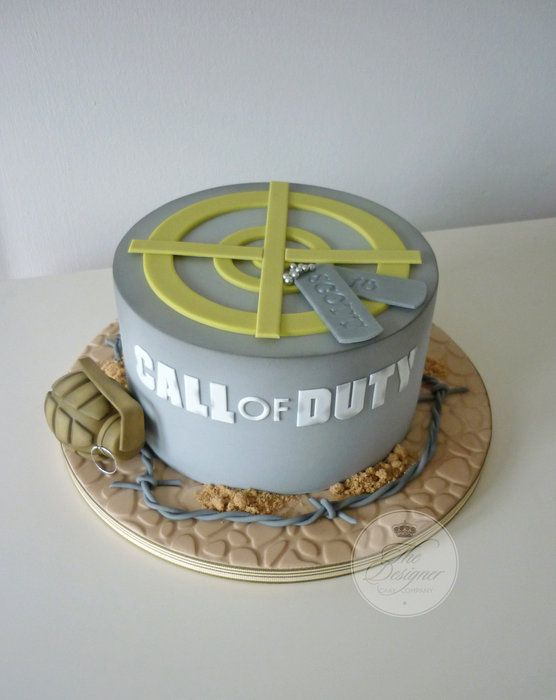 Call of Duty birthday cake - by designercakecompany @ CakesDecor.com - cake decorating website