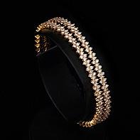 Diamond flower bangles