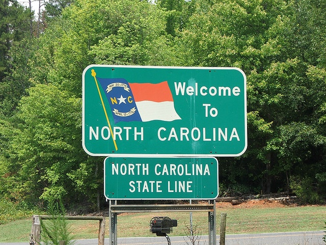 <3 Welcome to North Carolina...not a lot of good memories except for couple of NASCAR races in Charlotte.