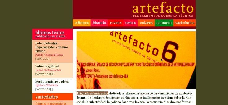Peter Sloterdijk Experimentos con uno mismo  Adolfo Vasquez Rocca PHD.  REVISTA ARTEFACTO 2013  http://www.revista-artefacto.com.ar/textos/nota/?p=84
