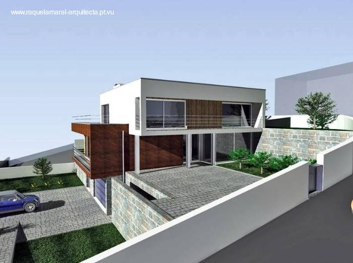 Arquitectura de casas casa en desnivel estilo for Arquitectura minimalista casas