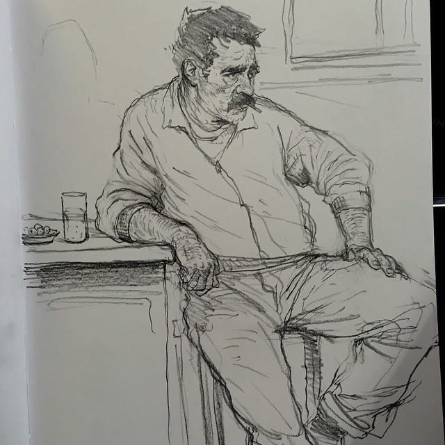 Art of Karl Kopinski - Saw this guy in a bar in Spain!