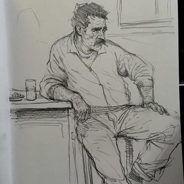 Art of Karl Kopinski - Saw this guy in a bar in Spain!