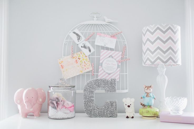 Perfectly styled for a baby girl's roomNurseries Decor, Grey White Pink Nurseries, Shabby Chic Nurseries, Girls Room, Baby Girls, Baby Room, Nurseries Ideas, Baby Shower, Baby Nurseries