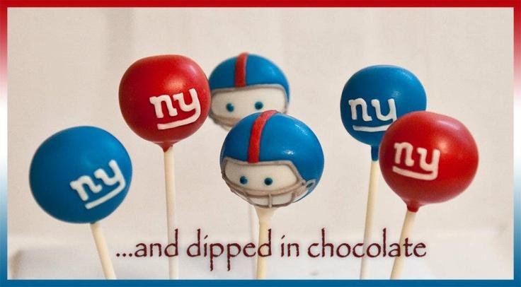Custom order NY Giants cake pops
