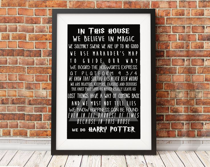 xXHarry Potter QuoteXx In this house... by Lynicki on Etsy