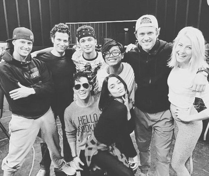 Julianne Hough with the cast of Grease Live.