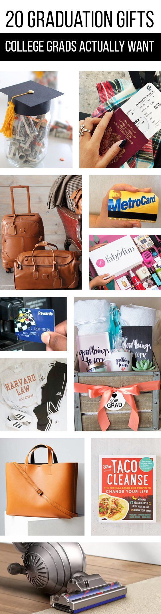 20 Graduation Gifts College Grads Actually Want (And Need)! No more fretting over giving just cash at upcoming graduation parties. Stand out with these great and thoughtful gifts.