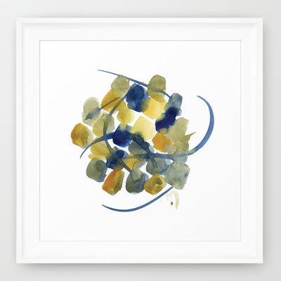Atom Flowers #32 Framed Art Print