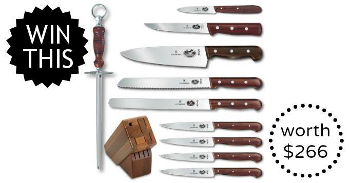 November Giveaway: Victorinox Knife Set worth $266 | Food Renegade