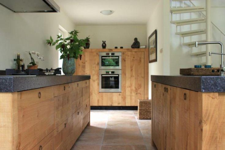 landelijke keuken met eiland hout Google zoeken Ideeën