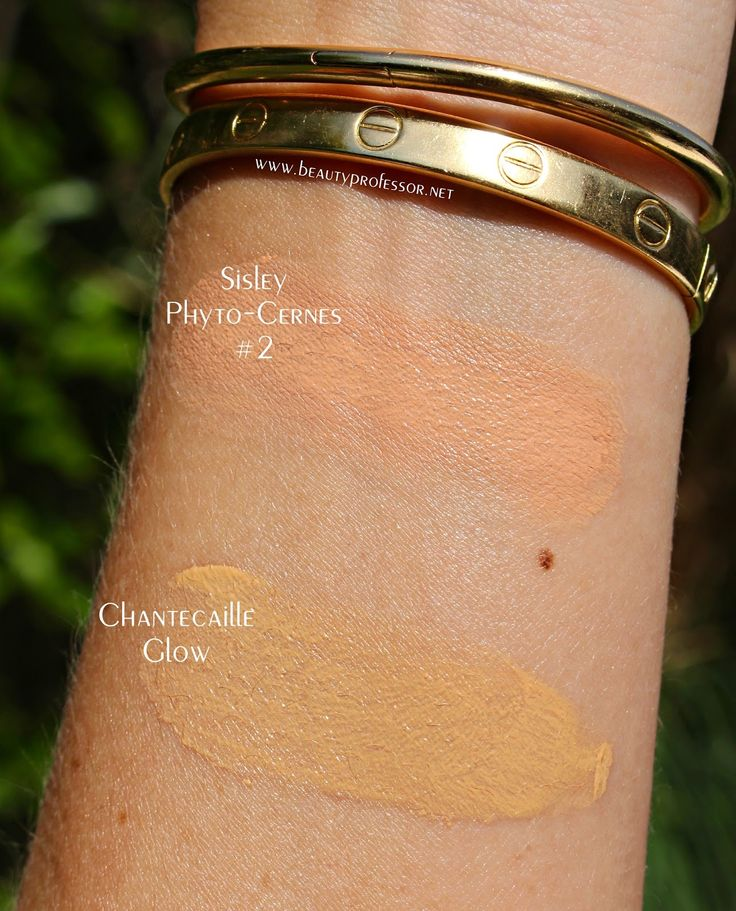 sisley concealer swatch chantecaille just skin glow swatch