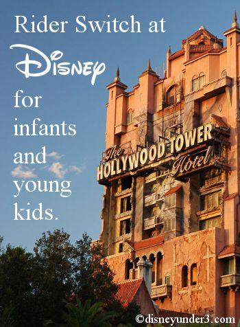 Disney Under 3 - Rider Switch Service (Baby Swap) with children under age 3 at Disney