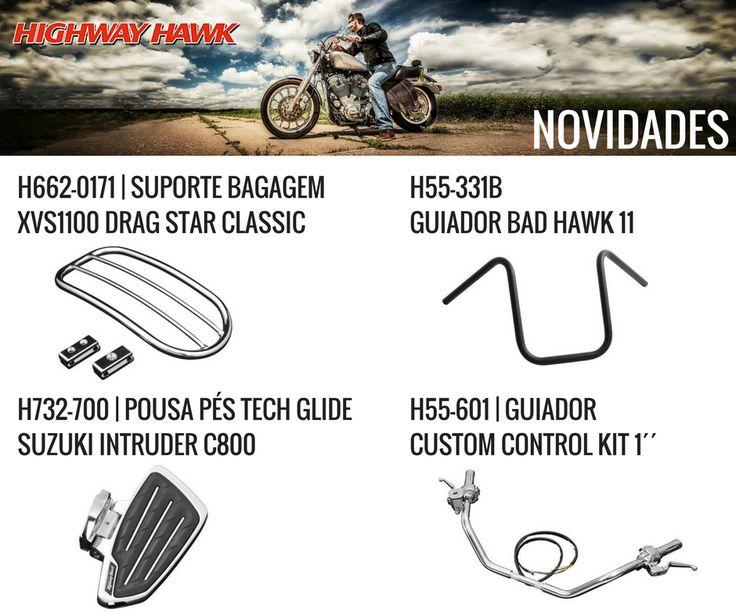 HIGHWAY HAWK | Novidades já disponíveis na Lusomotos (2/2) || Personalize a sua moto com os produtos de alta qualidade da Highway Hawk e aproveite os seus passeios ao máximo.  #lusomotos #highwayhawk #acessórios #custom #moto #estilodevida #customparts #novidades