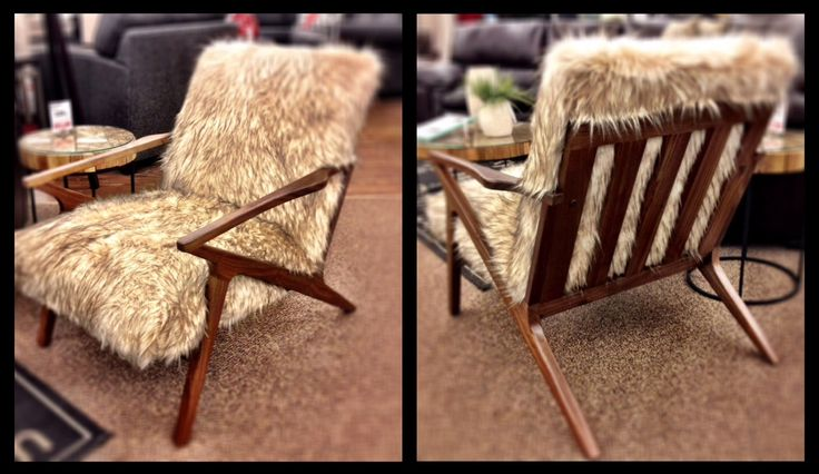 Coming or going, the Jezel Accent Chair in #fauxfur looks great at any angle!
