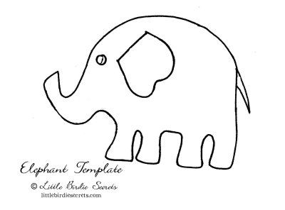 free animal stencils elephants on parade quilt with easy fusible applique Little Birdie ...