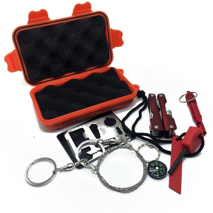 Emergency Equipment SOS Kit First Aid Box For Camping, Travel, Survival